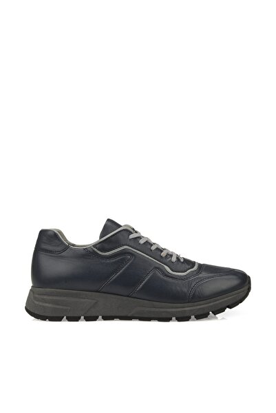 Uniquer Erkek Hakiki Deri Sneaker 9316 1960 LACIVERT