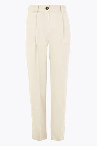 Marks & Spencer Kadın Gri 7/8 Tapered Crop Pantolon T59005744