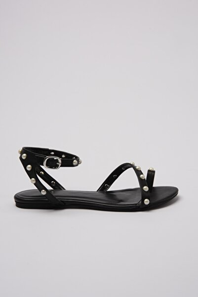 TRENDYOLMİLLA Siyah Kadın Sandalet TAKSS20TO0218