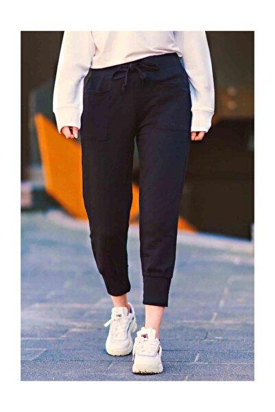 Madmext Kadın Siyah Mad Girls Jogging Eşofman Mg284