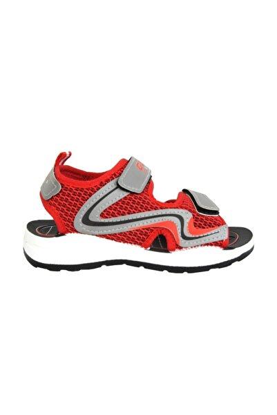 00056 Kırmızı Cırtlı Yazlık Erkek Çocuk Sandalet Ayakkabı