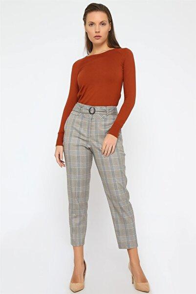 Chima Tokalı Ekose Pantolon