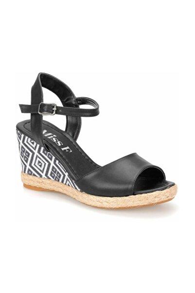 Miss F DS18131 Siyah Kadın Sandalet