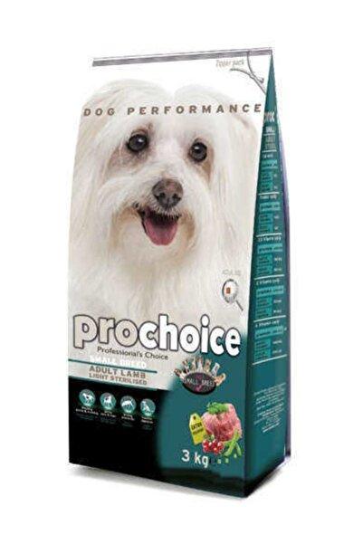 Pro Choice Light&Sterilised Kuzulu Küçük Irk Köpek Maması 3 Kg