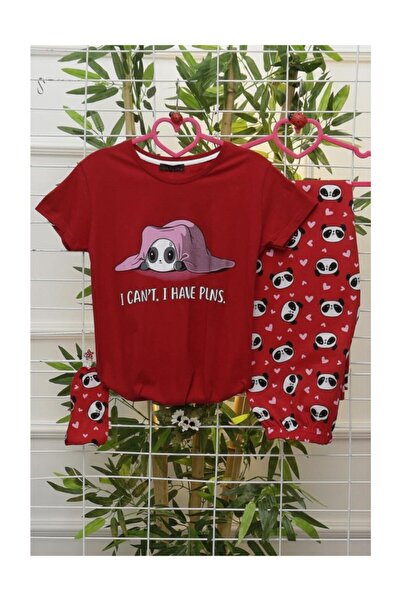 Lukas Kadın Pijama Takımı Kırmızı - 2520.1059.
