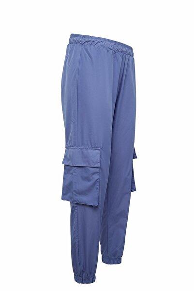 Kadın Mor Cepli Regular Fit Dokuma Pantolon R2715AZ.20SP.PR46