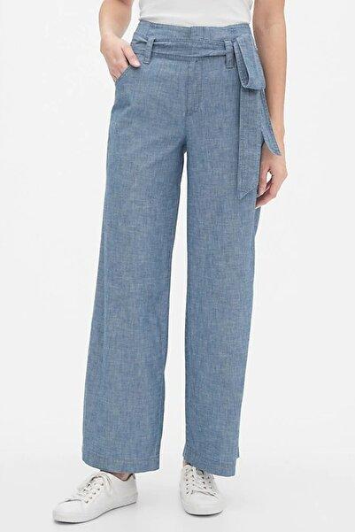 GAP Kadın Wide-Leg Şambre Pantolon Pantolon