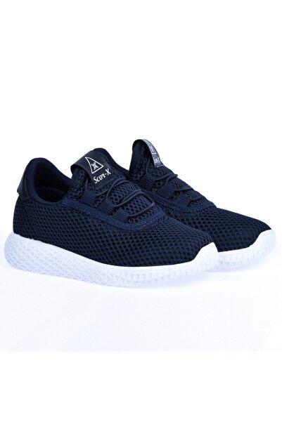Ayakland Erkek Çocuk Lacivert-Beyaz Günlük Fileli  Spor Ayakkabı