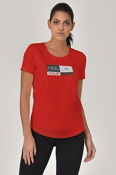bilcee Kırmızı Kadın T-shirt  GS-8614