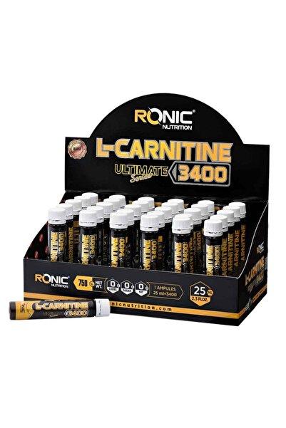 RONIC Nutrition L-Carnitine Ultimate Series 3400 Mg 30 Ampul Yağ Yakıcı +3 Adet Hediyeli