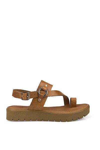 Hakiki Deri Taba Kadın Sandalet 101354U 311