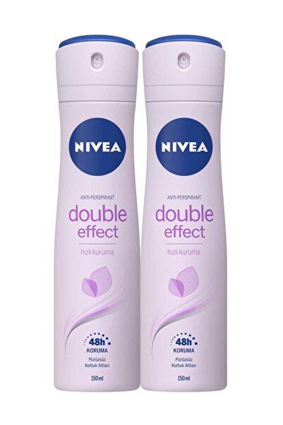 Double Effect Mor Düşler Sprey Deodorant 150 ml Kadın 2'Li Avantaj Paketi