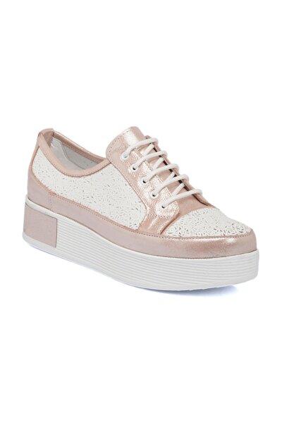 Tergan Pembe-Simli Deri Kadın Ayakkabı 64405O4W