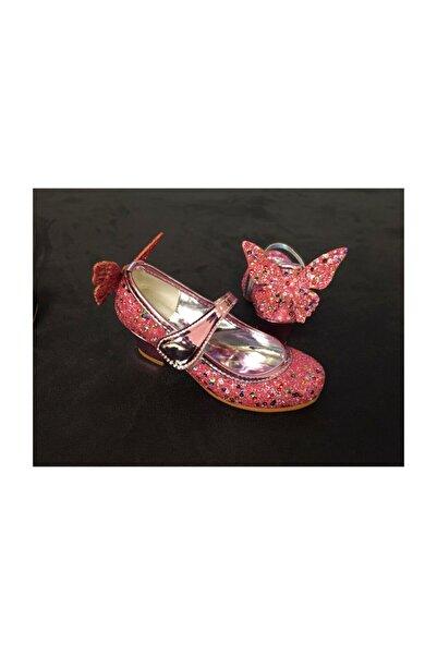 3 Çınar Kız Çocuk Pembe Kelebek Kanatlı Ortopedik Ayakkabı