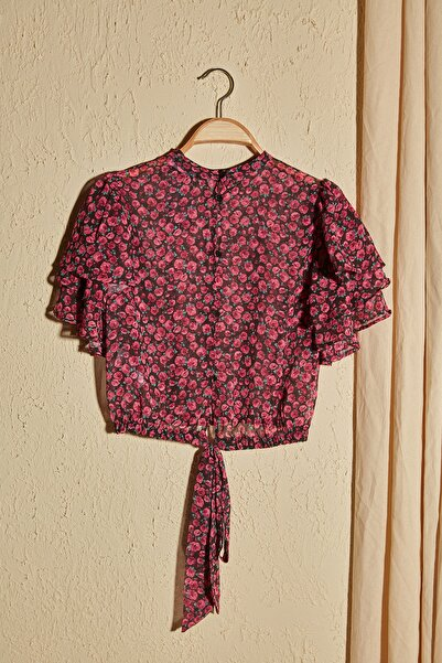 Çok Renkli Bağlama Detaylı Bluz TWOSS20BZ1657