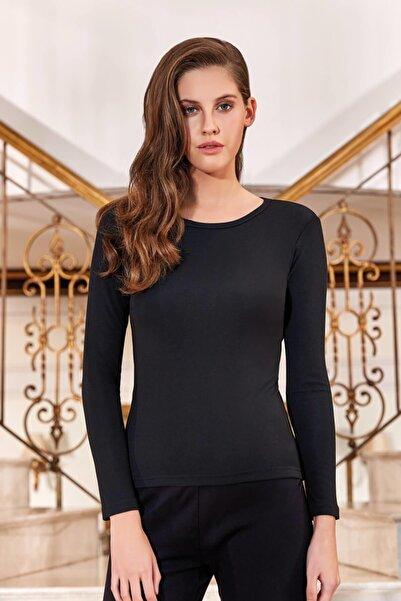 Berrak Kadın Siyah Termal Uzun Kol İçlik Takım ELF568BER2322B8028
