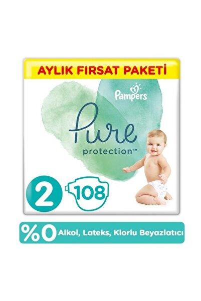 Pure Bebek Bezi 2 Beden 108 Adet Aylık Paket