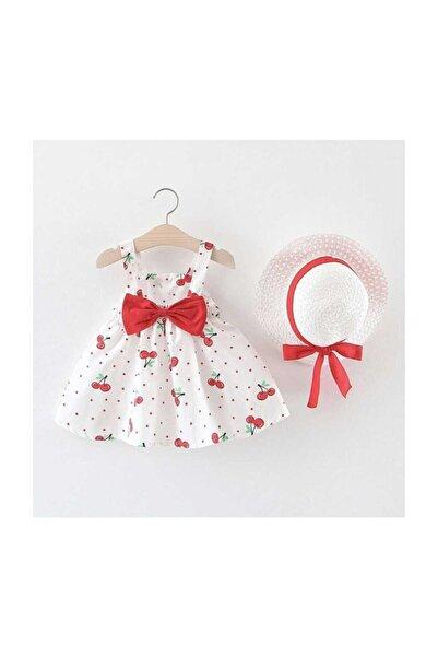 Kırmızı Kiraz Kız Çocuk Elbise - Jessica