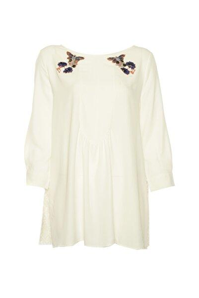 İpekyol Kadın Beyaz Tunik IS1190016020
