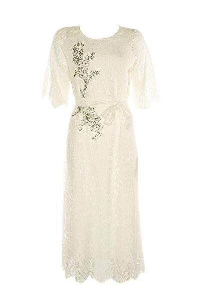 Twist Kadın Beyaz Elbise TS1190002284