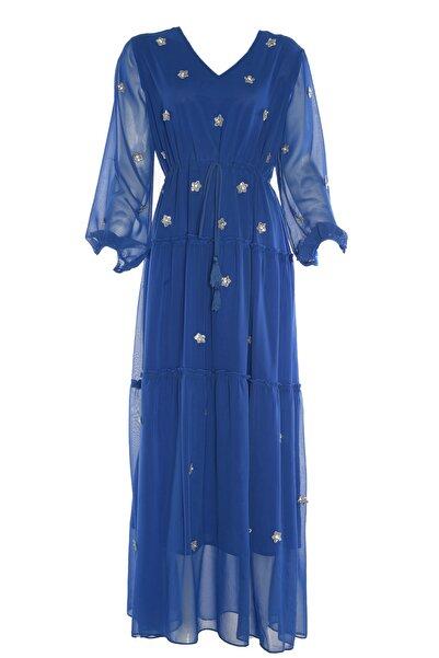 Twist Kadın Saks Elbise TS1190002293