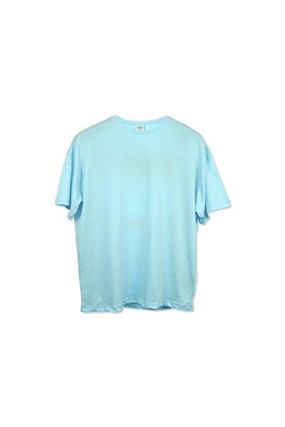 Erkek Bebek Mavisi Oversıze T-shirt