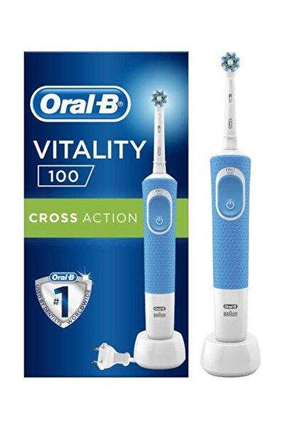 Oral-B D100 Mavi Vitality Cross Action Şarjlı Diş Fırçası