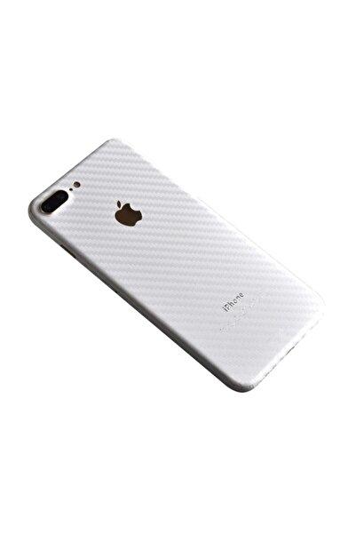 Ally Mobile Iphone 7 Plus Karbon Fiber Kaplama Sticker Beyaz