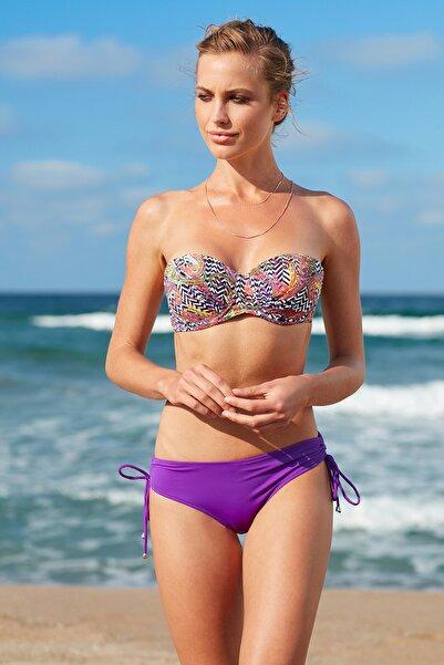 Kadın Straplez Kaplı Bikini Üst 209105-D Bohemian