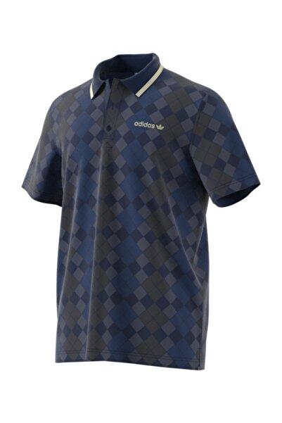Erkek Lacivert Polo Yaka T-Shirt Argyle Pıque