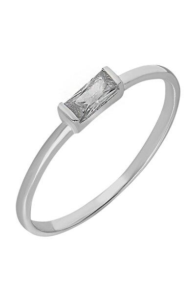 Chavin Gümüş Taşlı Kadın Yüzük Mini Eklem Yüzüğü ed80by