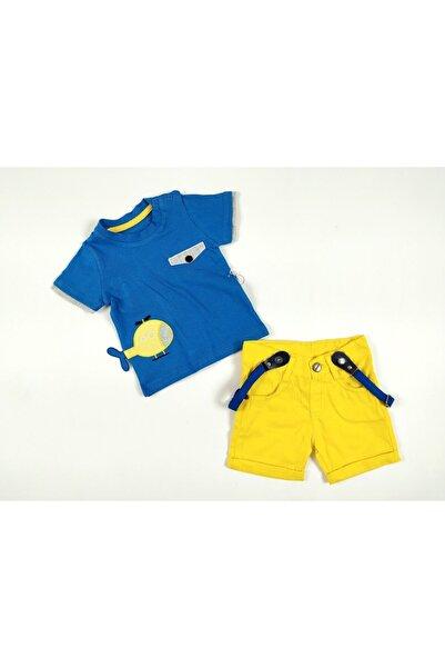 Concept. Erkek Bebek Üçlü Dış Giyim Takımı Salopet Askılı