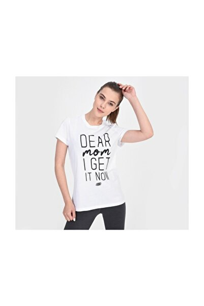 SKECHERS Graphic Tee'S W Dear Mom I Get It Now S201257-100 Kadın Beyaz Tshirt