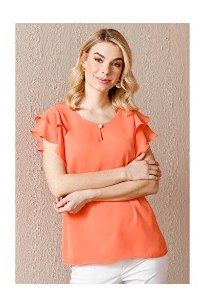 Ekol Kadın Omzu Fırfırlı Bluz
