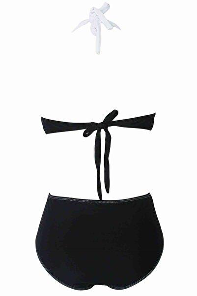 Xanded Şık Bikini Üstü Siyah Beyaz
