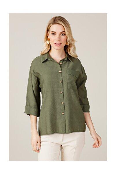 Kadın Tek Cepli Gömlek