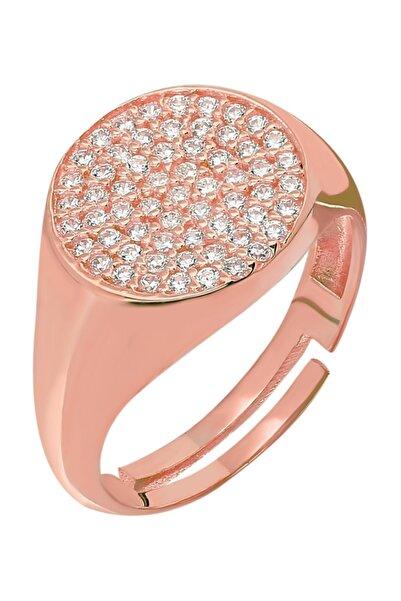 Chavin Gümüş Yuvarlak Rose Plaka Mini Eklem Yüzüğü Yüzük Ee85rs