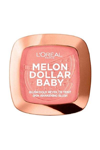 L'Oreal Paris Kadın Pembe Allık - Wake Up and Glow Blush 03 Melon Dollar Baby 3600523707157