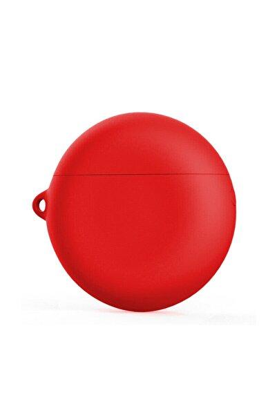 Microsonic Huawei Freebuds 3 Mat Silikon Kılıf Kırmızı