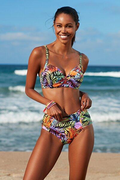 Kadın Toparlayıcı Bikini Üst 209108-D Tropic