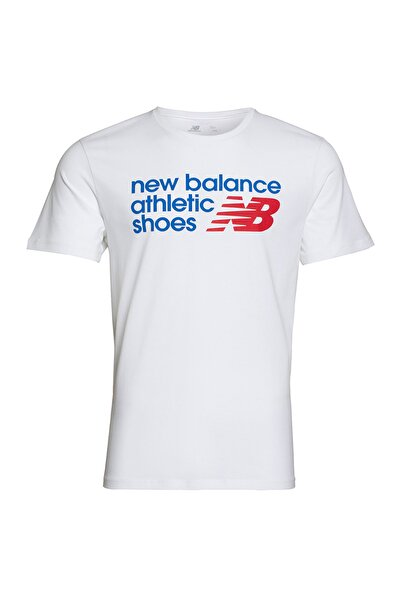 New Balance Erkek Tişört - Athletıcs Shoes Mens Tee - MPS001-WT