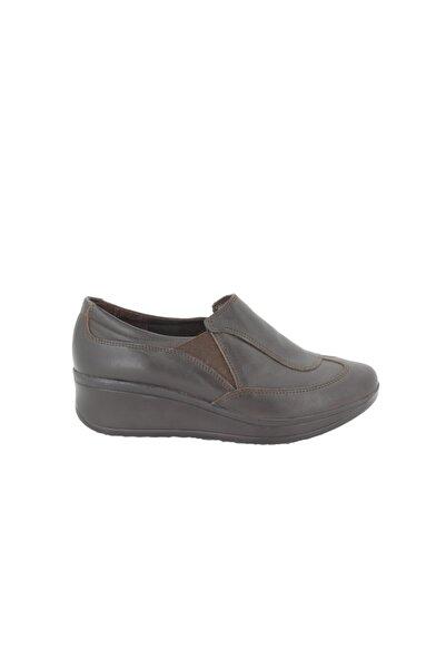 Hobby Kadın Kahve Deri Günlük Ayakkabı Anb001