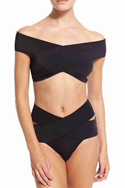 Xanded Straplez Tasarım Bikini Üstü Siyah