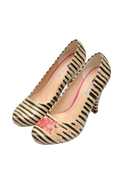 Dogo Roses On Stripes Topuklu Kadın Ayakkabı