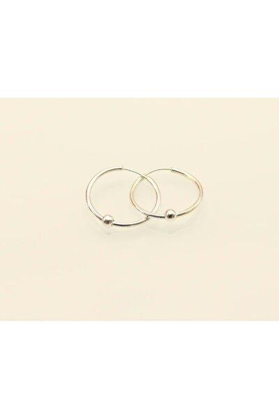 SOYLU Oksitli Halka 17 mm Toplu Gümüş Küpe