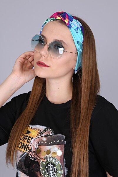 Kadın Renkli Desenli Saç Bandı Scbnd1002