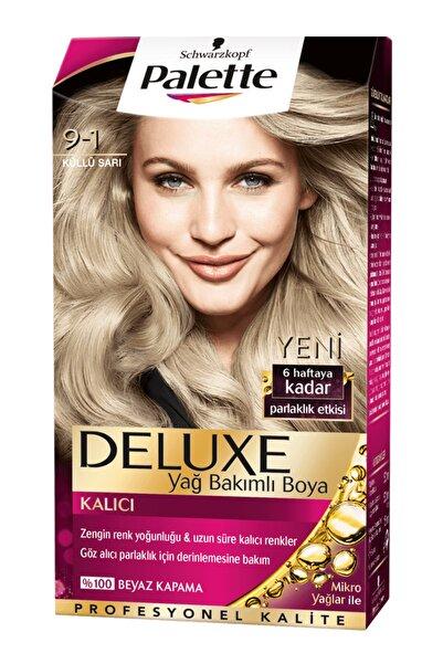Palette Deluxe 9-1 Küllü Sarı - Yağ Bakımlı Kalıcı Saç Boyası