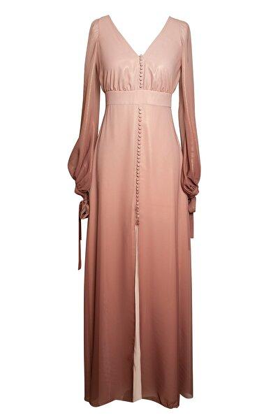 Barrus Degrade Geçişli Elbise Kahve Tonları Barrus099