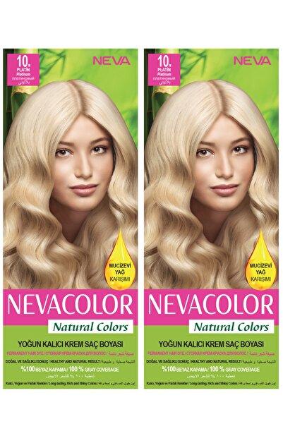 Neva Color 2'li Natural Colors 10 Platin - Kalıcı Krem Saç Boyası Seti