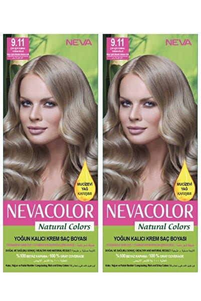 Neva Color 2'li Natural Colors 9.11 Çok Açık Kumral Yoğun Küllü - Kalıcı Krem Saç Boyası Seti 8681655541790